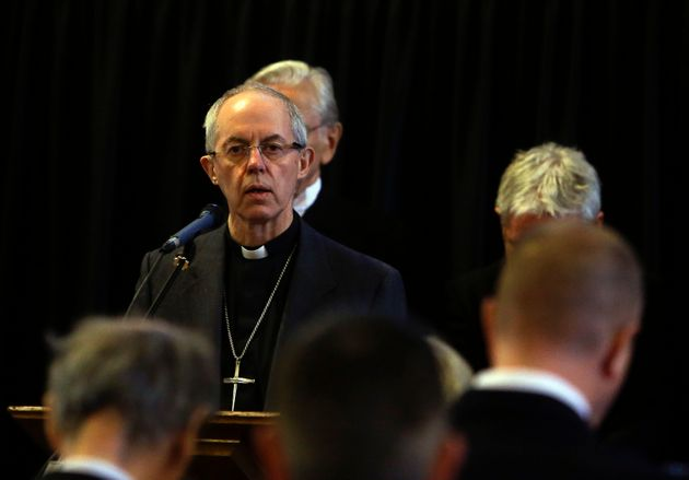 The Archbishop of Canterbury Justin Welby, during a service for the victim's at