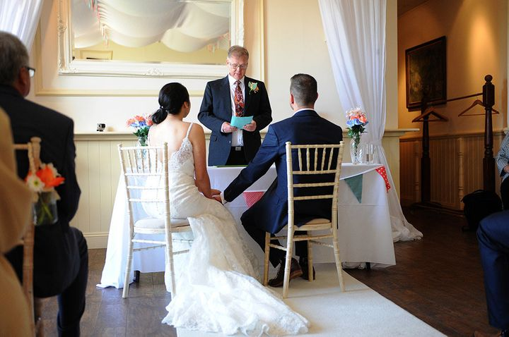 You can always take a seat for all or part of the ceremony if you think it will help you feel more relaxed.