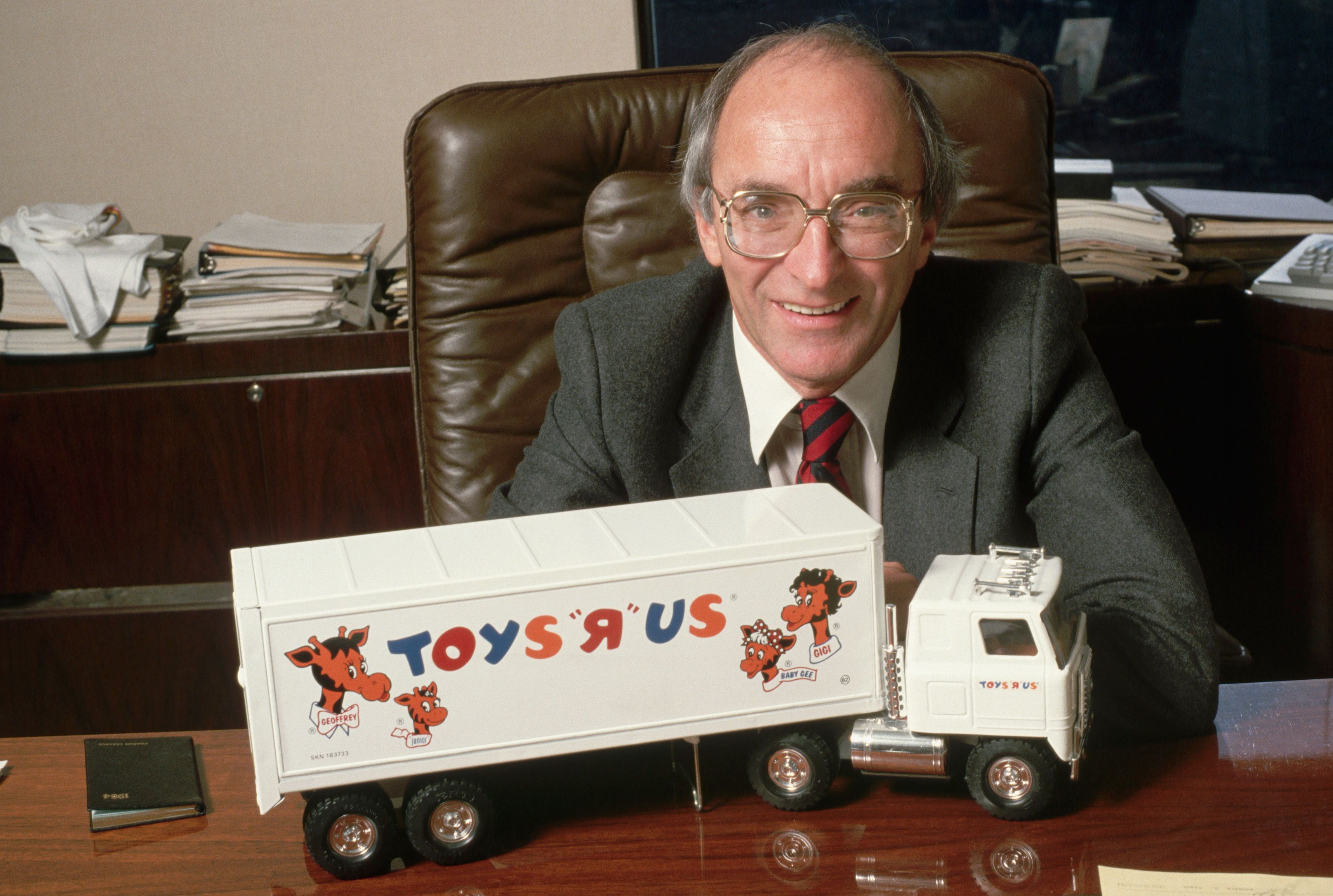 Charles Lazarus with Toy Truck (Photo by �� Jacques M. Chenet/CORBIS/Corbis via Getty Images)