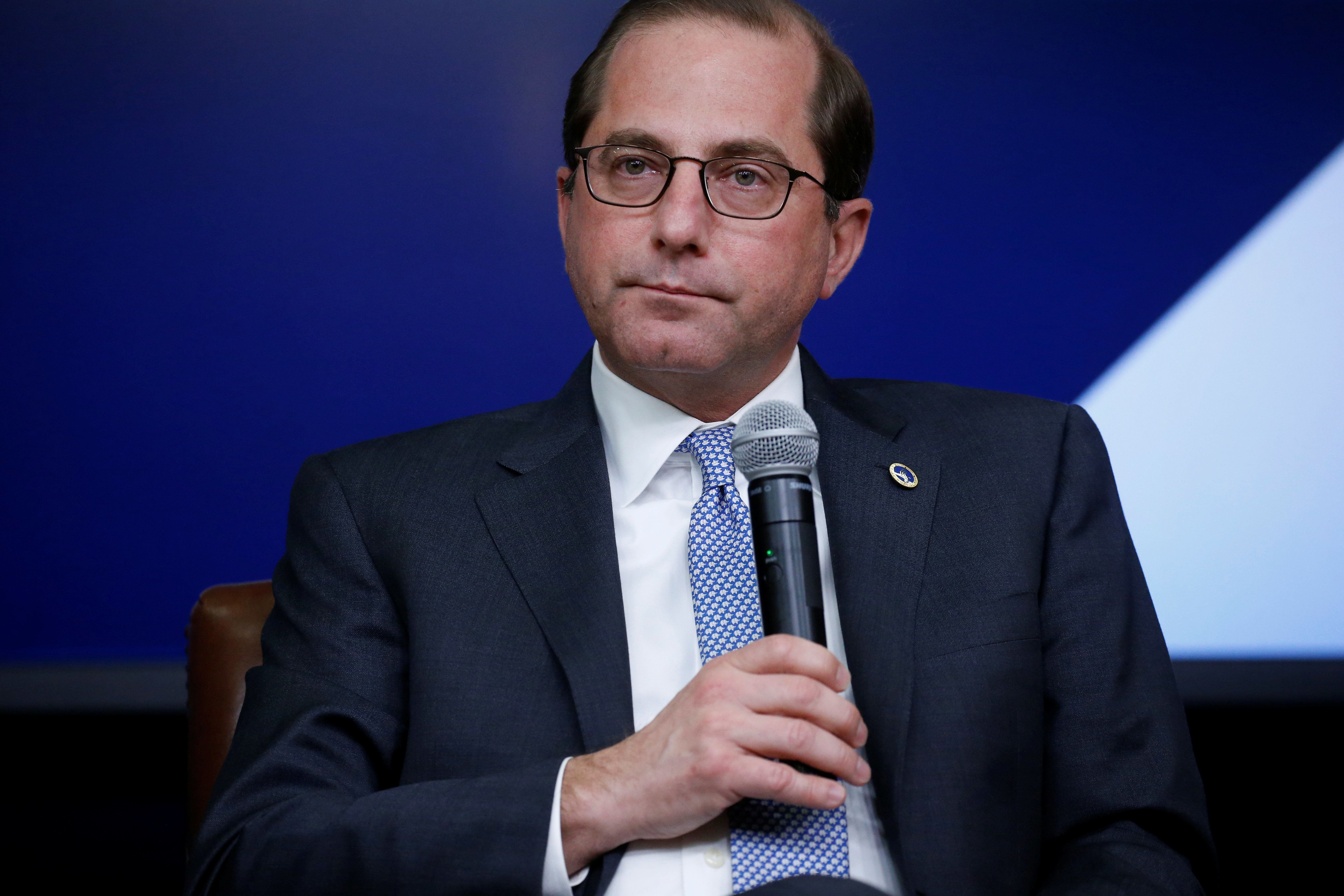 Health and Human Services Secretary Alex Azar participates in a forum called Generation Next at the Eisenhower Executive Office Building in Washington, U.S., March 22, 2018. REUTERS/Leah Millis