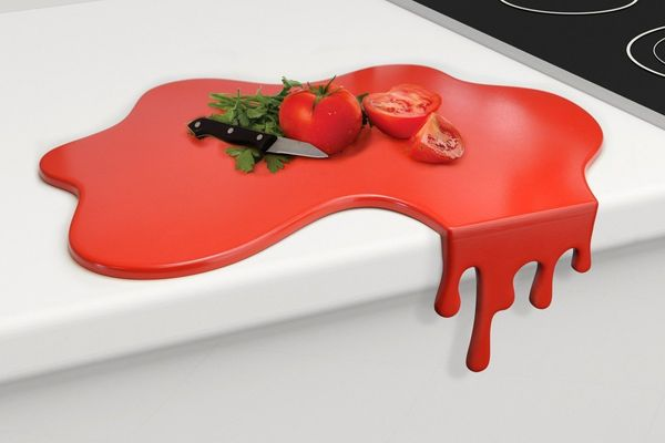 "Your mom will have a bloody good time chopping up meats and veggies on <a href=""https://www.fun.com/splash-chopping-board.htm"