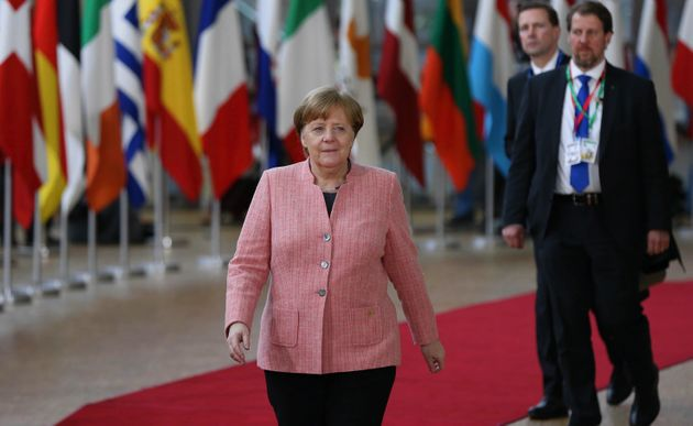 German Chancellor Angela Merkel attends the European leaders summit at the European Council in
