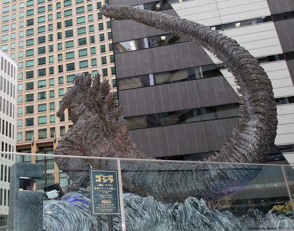 도쿄에 새로운 고질라 동상이
