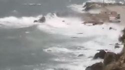 Βίντεο: Εντυπωσιακές εικόνες από τα μεγάλα κύματα στην
