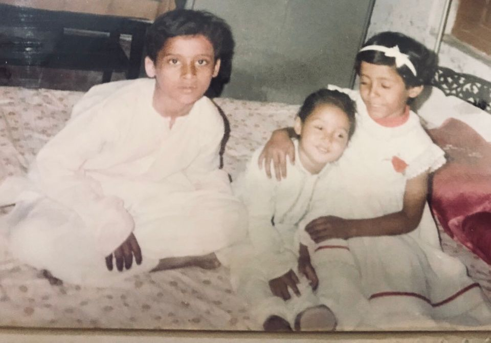 Then: Saket (L),Abhishek (middle) and Parul (R) in