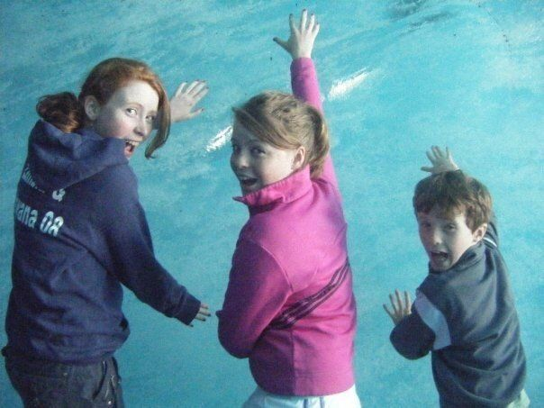 Then: Helen (L), Lucy (middle) and Harry (R) in 2009.