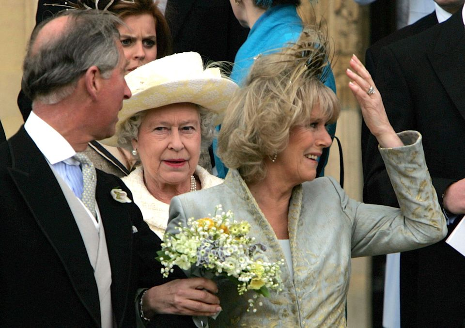 The Queen 'posed for just 52 seconds' during Charles and Camilla's wedding day photo call at Windsor...