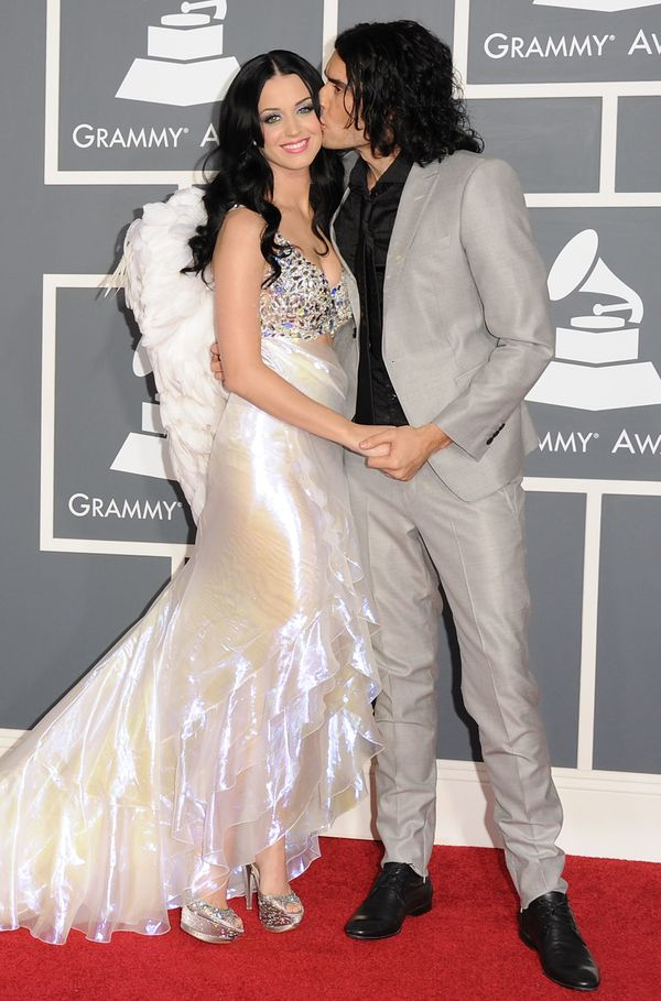 With then-husband Russell Brand at the 53rd annualGrammy Awards held at Staples Center on Feb. 13, 2011, in Los Angeles