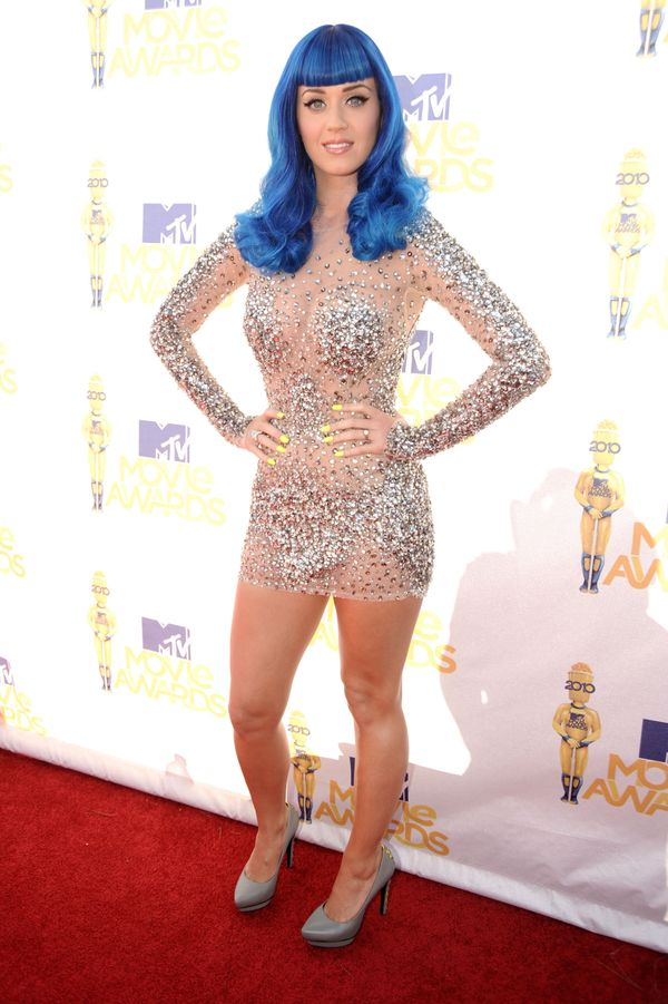 Wearing a sparkly Zuhair Murad dress at the 2010 MTV Movie Awards at Gibson Amphitheatre on June 6, 2010, in Universal City,