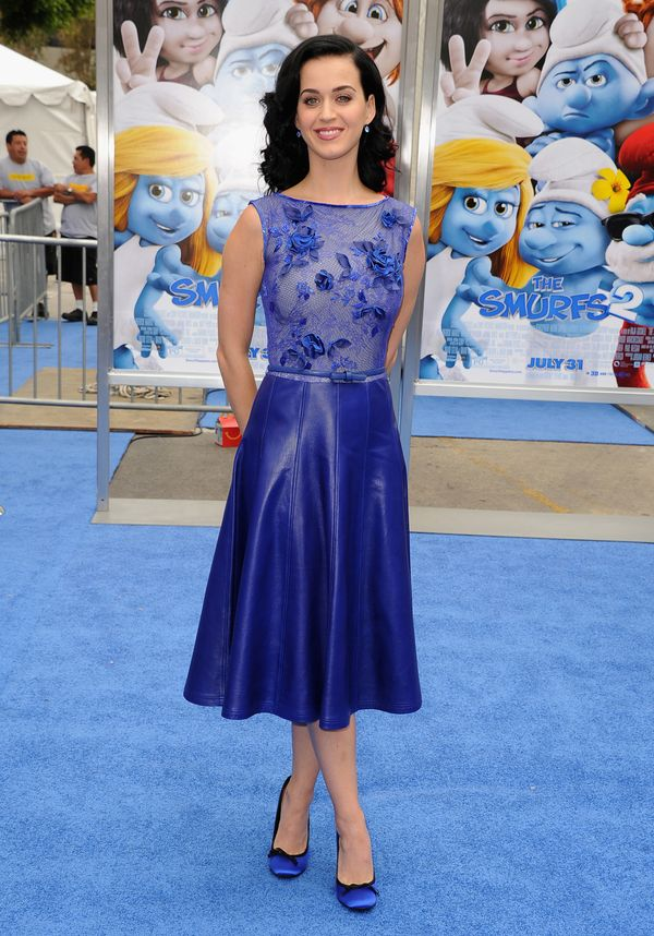 """At the premiere of Columbia Pictures' """"Smurfs 2"""" at Regency Village Theatre on July 28, 2013 in Westwood, California. Perry w"""
