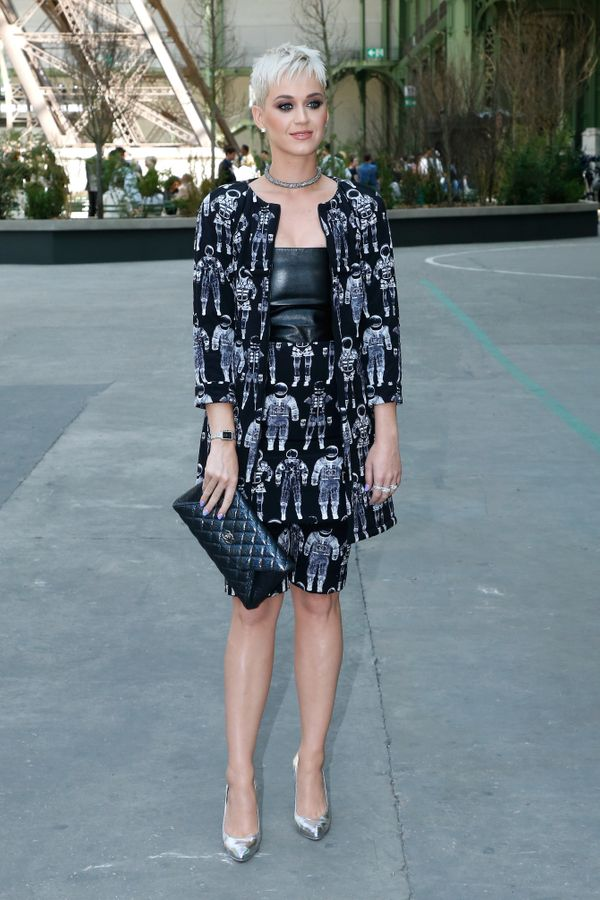At theChanel Haute Couturefall-winter 2017-18 show as part of Haute Couture Paris Fashion Week on July 4, 2017 in