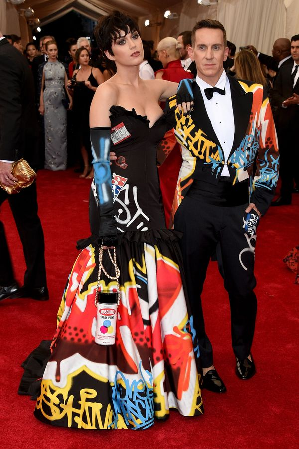 """With Jeremy Scott at the""""China: Through The Looking Glass"""" Costume Institute Benefit Gala at the Metropolitan Museum of"""