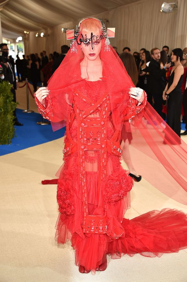 """Wearing a Maison Margiela Couture gown at the """"Rei Kawakubo/Comme des Garçons: Art Of The In-Between"""" Costume Institut"""