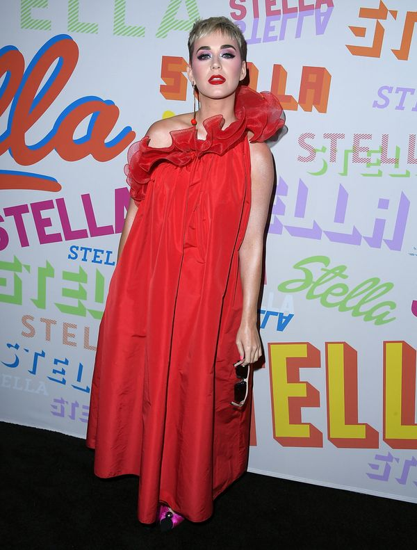Wearing a Stella McCartney gown at Stella McCartney's autumn 2018 collection launch on Jan. 16, 2018 in Los Angeles.