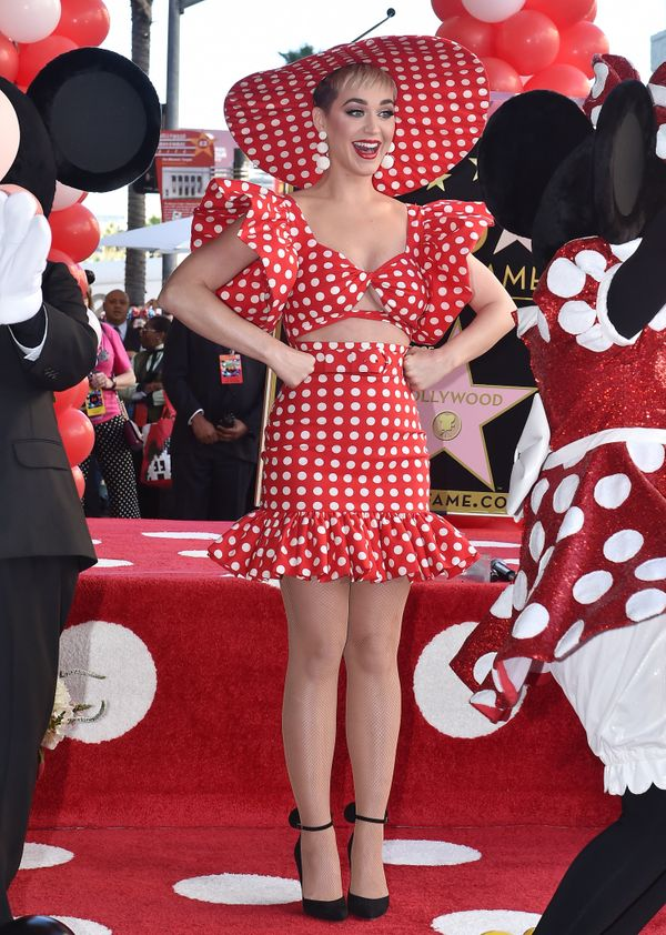 At the ceremony honoring Minnie Mouse's90th anniversary with a star on the Hollywood Walk of Fame on Jan. 22, 2018 in H