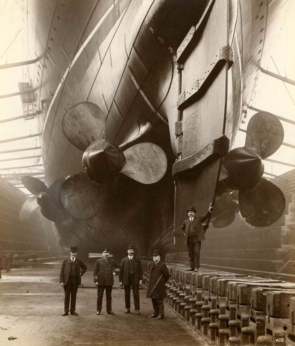 RMS Mauretania in Canada Dock in Liverpool, England, 1909 (reference number DS.WS/143/68).