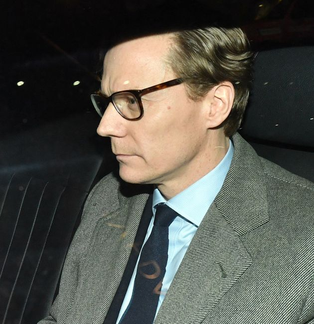 Chief Executive of Cambridge Analytica (CA)Alexander Nix, leaves the offices in central London, as the...
