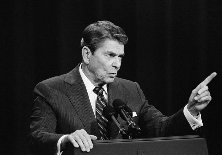 Ronald Reagan in his debate with Walter Mondale, October 1984.