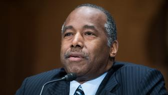 UNITED STATES - MARCH 22: HUD Secretary Ben Carson testifies during a Senate Banking Committee hearing in Dirksen Building on oversight of the Department of Housing and Urban Development on March 22, 2018. (Photo By Tom Williams/CQ Roll Call)