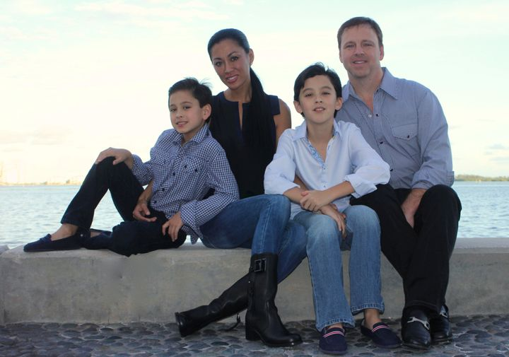 Anna, Phillip and their sons, Phillip Jr. and Aston.