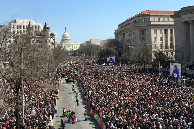 Thousands of people gather on Pennsylvania Avenue at the March For Our Lives rally in