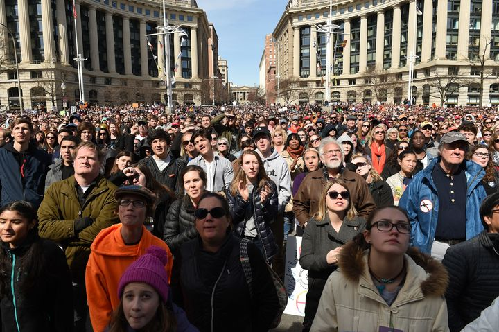 Thousands of people gathered in Washington, D.C., as Emma González addressed the crowd and honored shooting victi