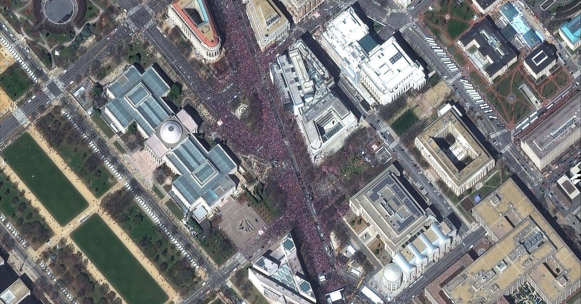 This Is What The March For Our Lives Looked Like From Space