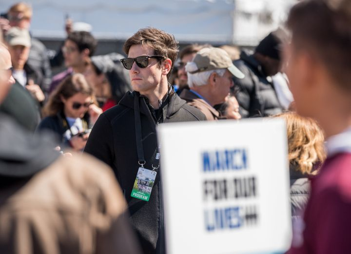 Josh Kushner was among hundreds of thousands participating in Saturday's March For Our Lives demonstration in Washington.