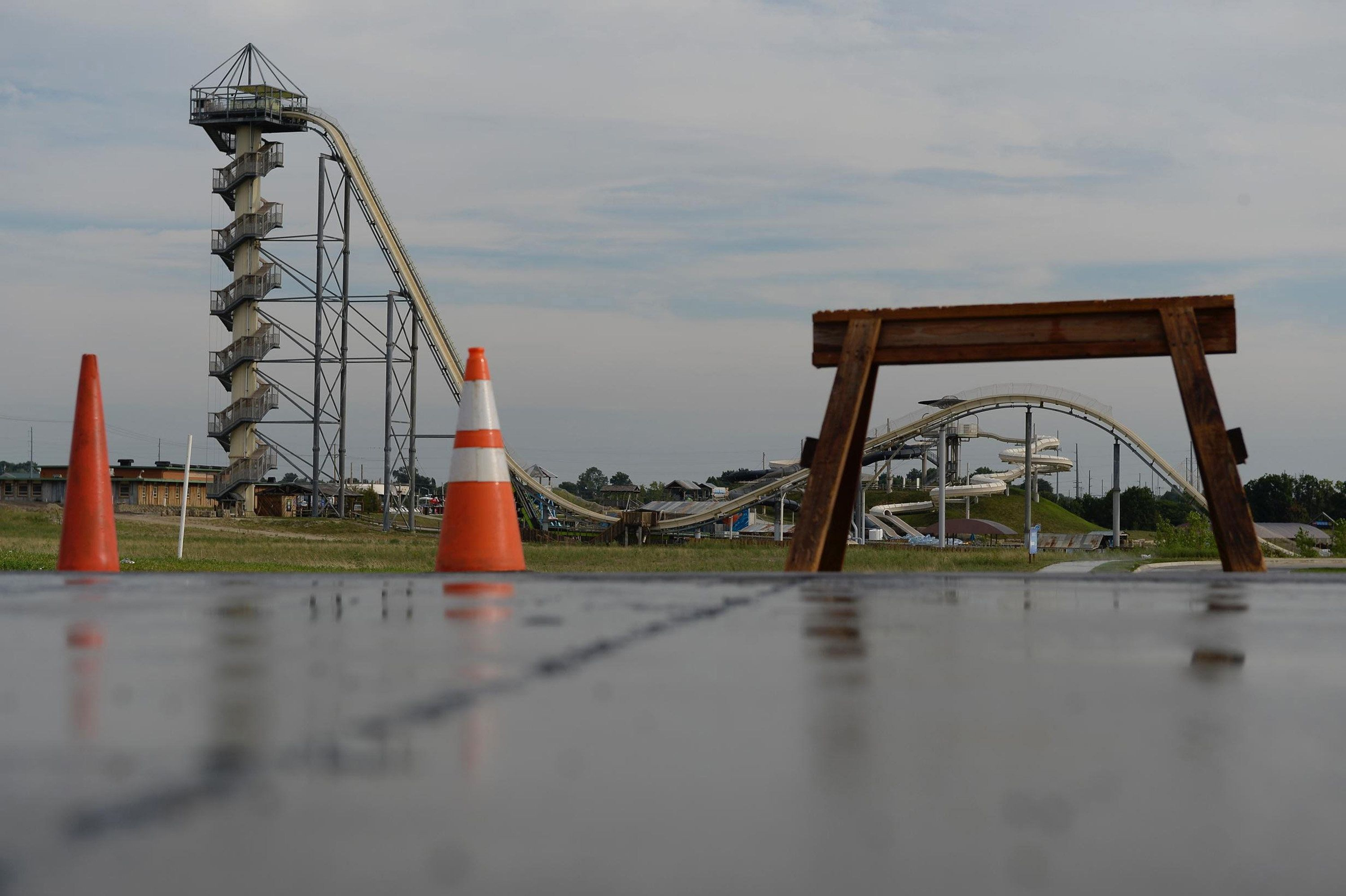 Caleb Schwab died on the Verruckt water slide at the Schlitterbahn water park in Kansas City, Kan., in August 2016. A Schlitterbahn executive has been arrested and charged with involuntary manslaughter. (Keith Myers/Kansas City Star/TNS via Getty Images)