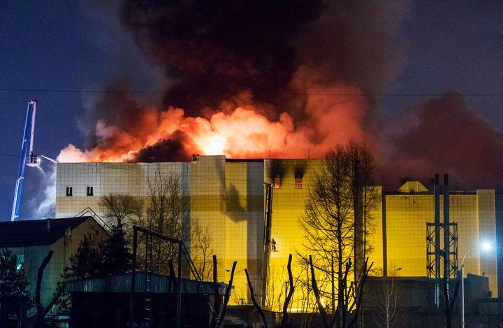 The Zimnyaya Vishnya shopping centrein the Siberian city of Kemerovo caught fire on Sunday. Cause of the deadly blaze i