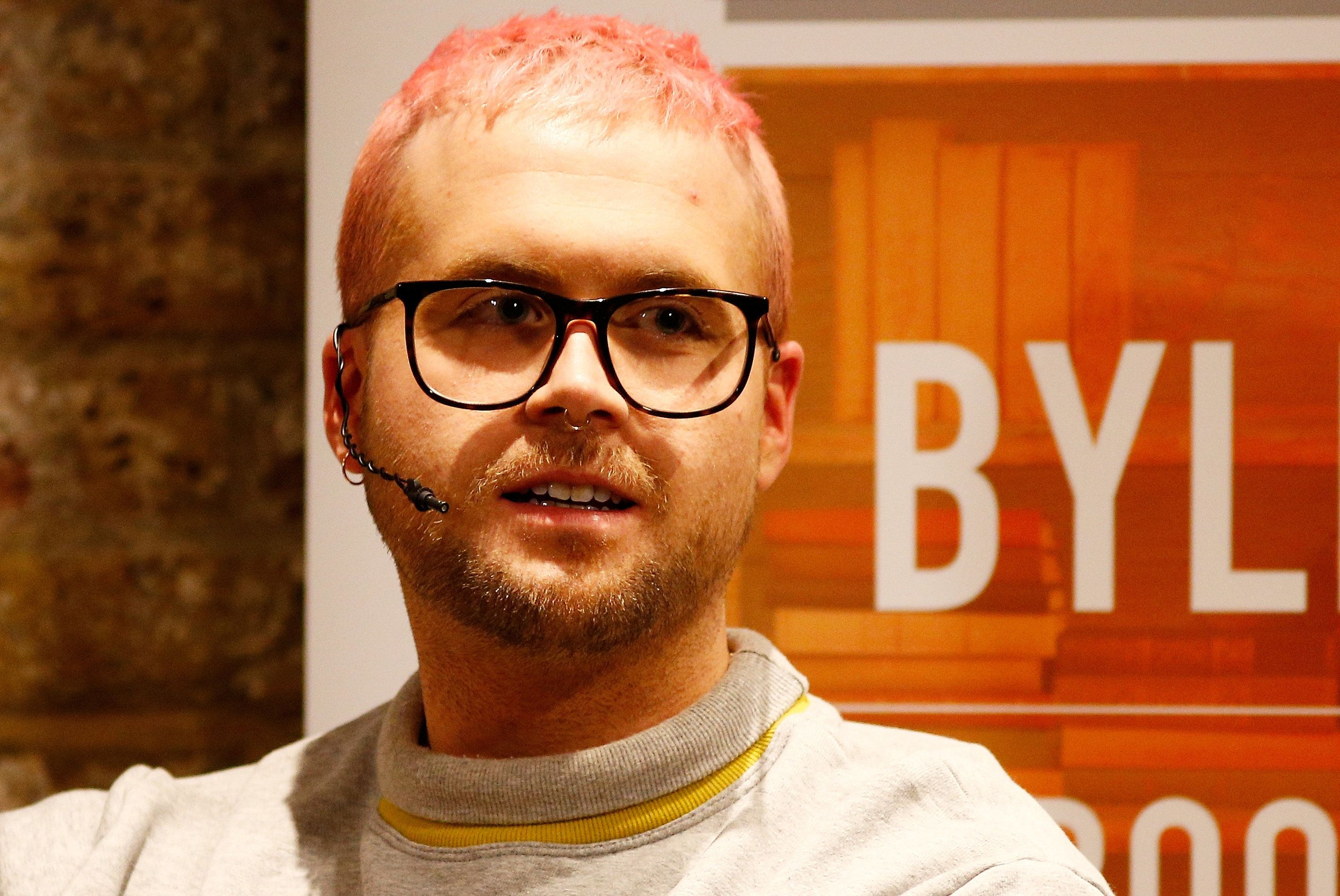 Christopher Wylie, a whistleblower who formerly worked with Cambridge Analytica, the consulting firm that is said to have harvested private information from more than 50 million Facebook users, speaks at the Frontline Club in London, Britain, March 20, 2018. REUTERS/Henry Nicholls