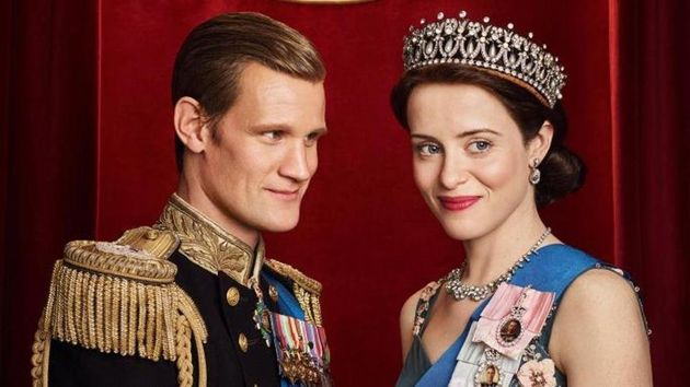 Matt Smith and Claire Foy in 'The
