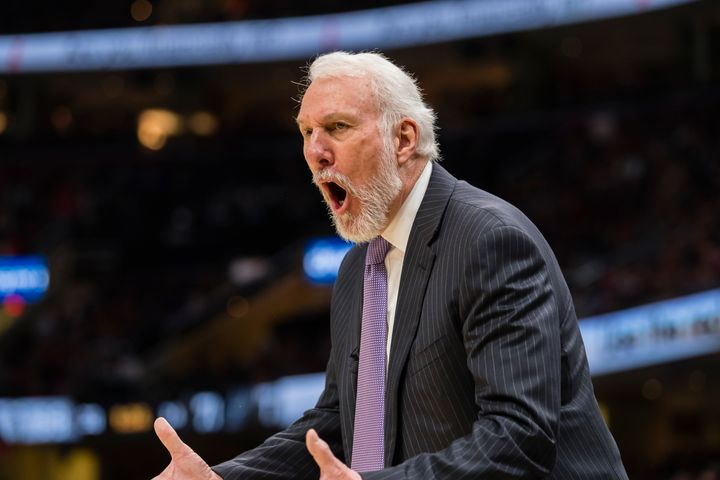 Spurs Coach Gregg Popovich and President Donald Trump are definitely not on the same team when it comes to Trump's leadership