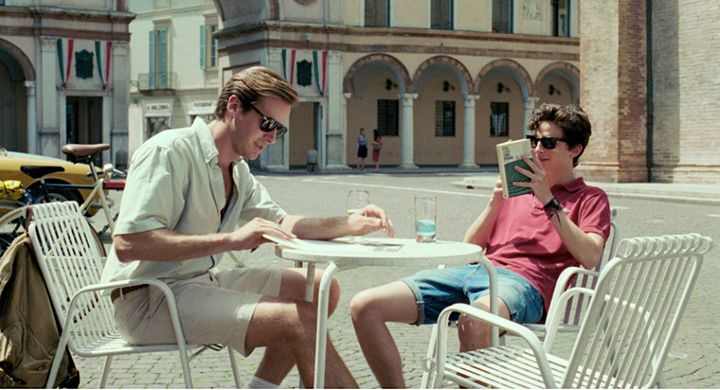 "Armie Hammer, left, and Timothée Chalamet in ""Call Me By Your Name."""