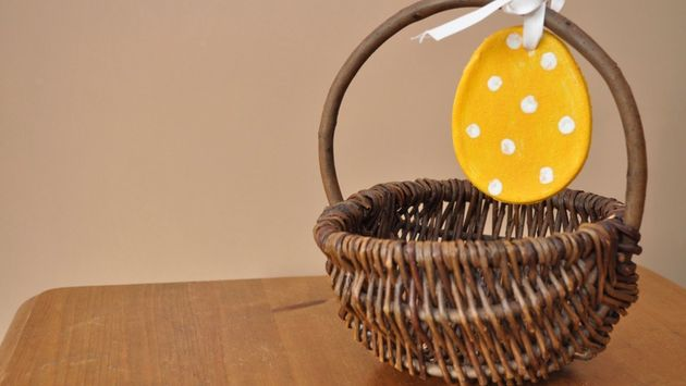 The salt dough Easter eggs may also make great decorations for any Easter baskets you're