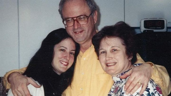 Toby Davidow and her parents. Davidow testified before the Maryland House that her parents' caregiver and her father kept her