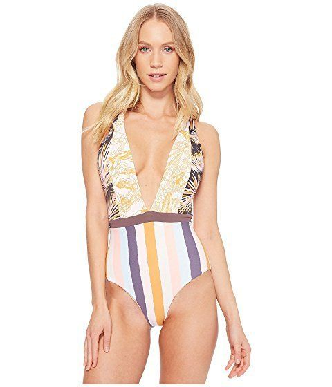 """Get it at <a href=""""https://www.zappos.com/p/maaji-rainbow-jungle-regular-rise-two-way-top-multicolor/product/9031621/color/47"""
