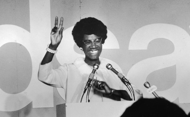 Shirley Chisholm, the first black woman elected to U.S. Congress and the first black person to run for a major party's p