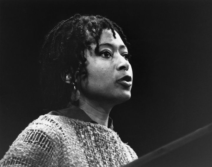 "Alice Walker, author of ""The Color Purple,"" reading poems in New York."