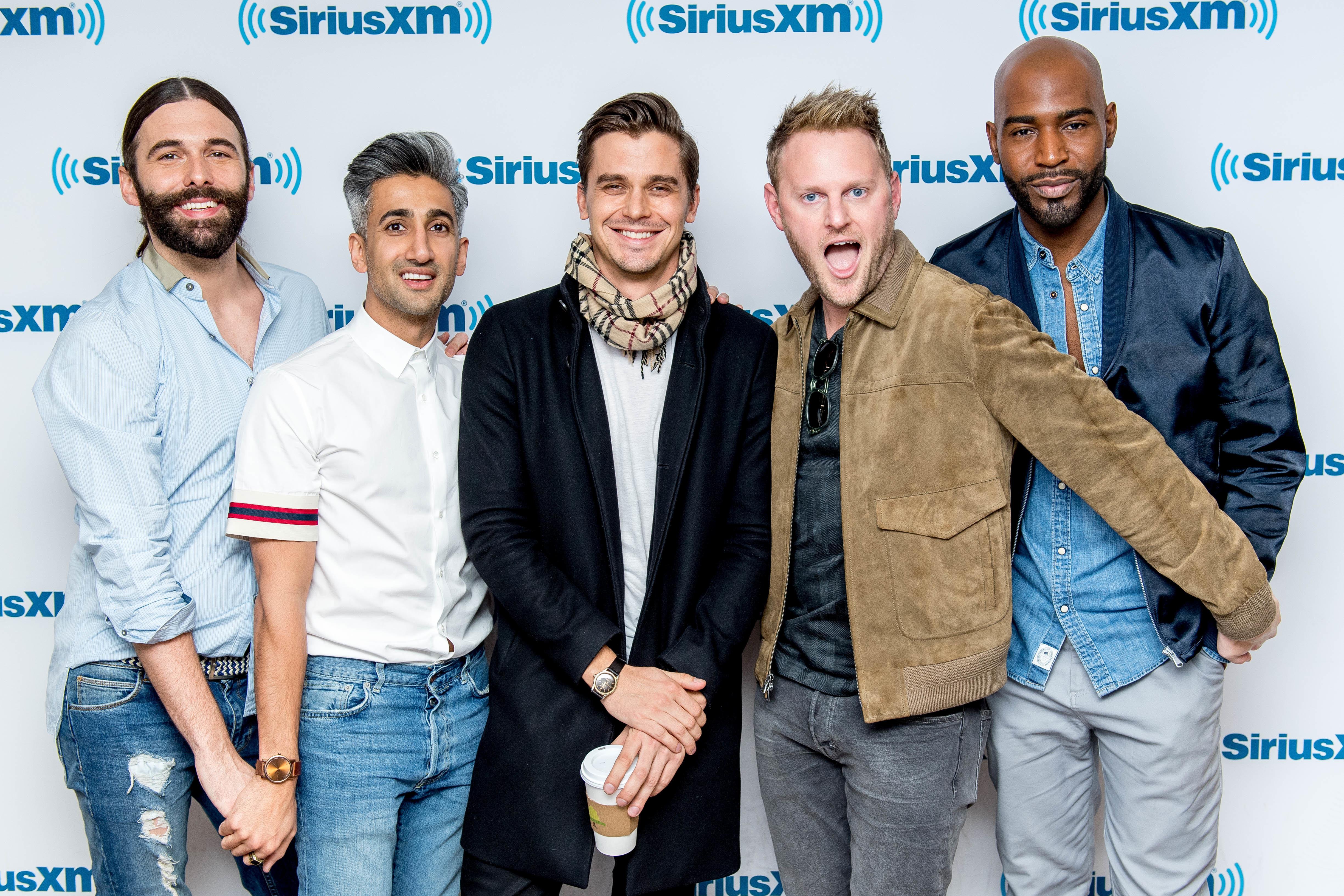 """All five """"Queer Eye"""" stars (from left) -- Jonathan Van Ness, Tan France, Antoni Porowski, Bobby Berk and Karamo Brown -- will"""