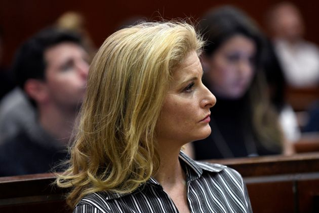 Summer Zervos appears in court during a hearing for her defamation case against Trump. She says...