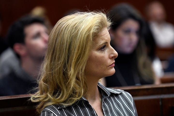 Summer Zervos appears in court during a hearing for her defamation case against Trump. She says she was looking&nbs