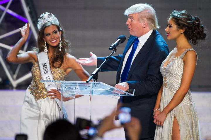 Donald Trump at the Miss USA pageant in 2013. The president has a passion for beauty contests.
