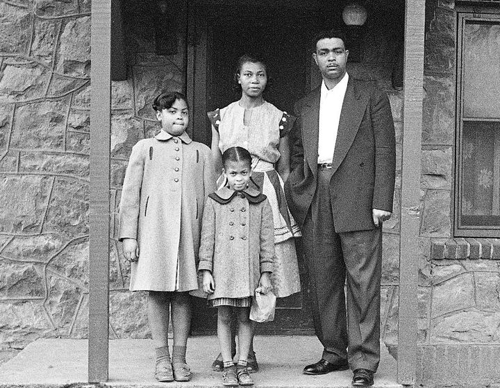 Linda Brown (left) lent her name to the landmark desegregation case decided by the Supreme Court 64 years ago.