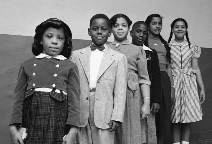 The children involved in the landmark civil rights suit Brown v. Board of Education: Vicki Henderson, Donald Henderson, Linda