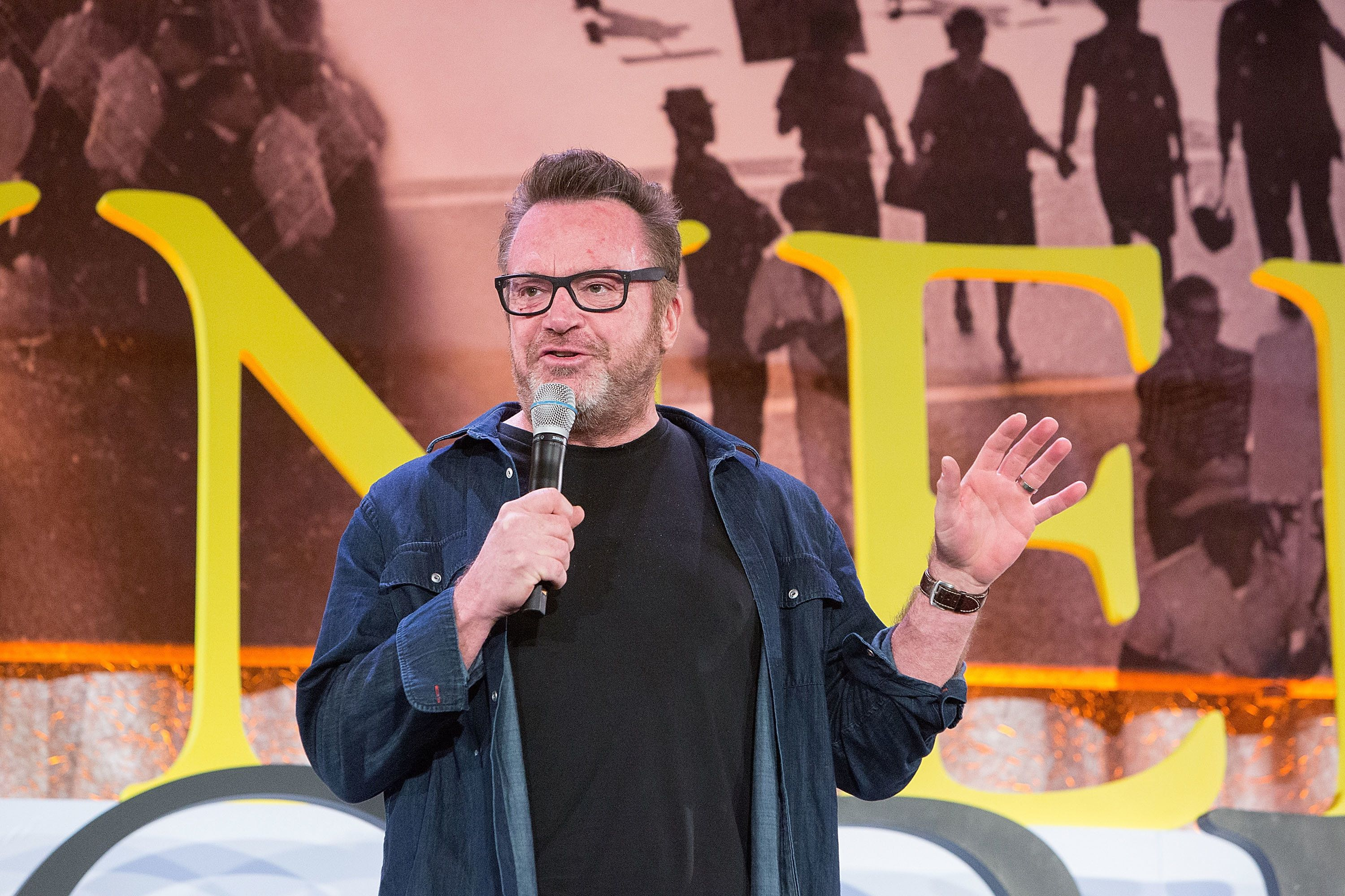 CHICAGO, IL - JANUARY 16:  Tom Arnold, Actor, Comedian, and Recovery Advocate, was among the advocates speaking at The Kennedy Forum National Summit On Mental Health Equity And Justice In Chicago at the Chicago Hilton and Tower Hotel on January 16, 2018 in Chicago, Illinois.  (Photo by Jeff Schear/Getty Images for Kennedy Forum)