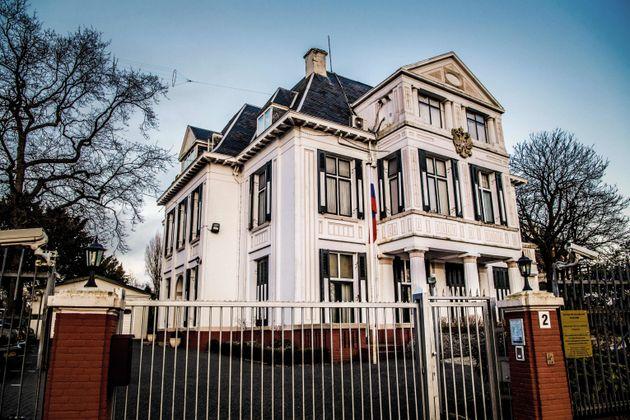 사진은 네덜란드 헤이그에 있는 러시아 대사관.