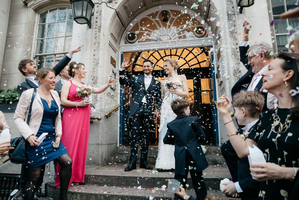 The couple shared a selection of image from their wedding exclusively withHuffPostUK.
