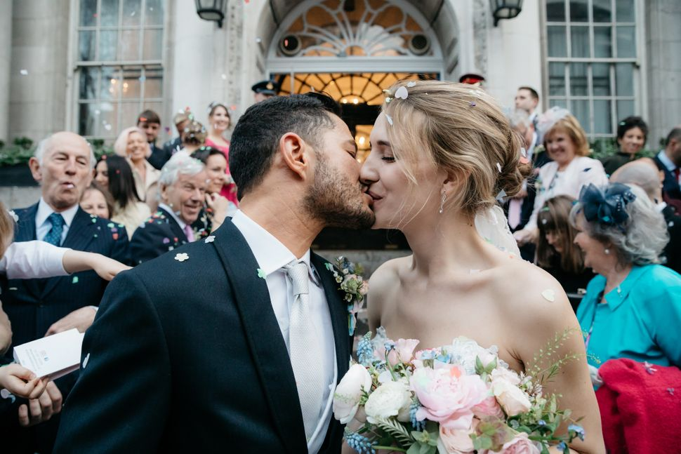 The couple shared a selection of image from their wedding exclusively with HuffPost UK.