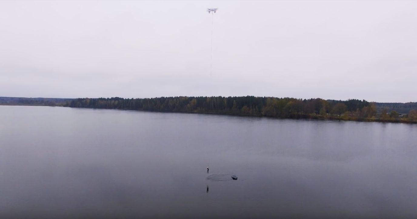 This Giant Drone Can Do Everything From Rescuing Humans To De-Icing Wind